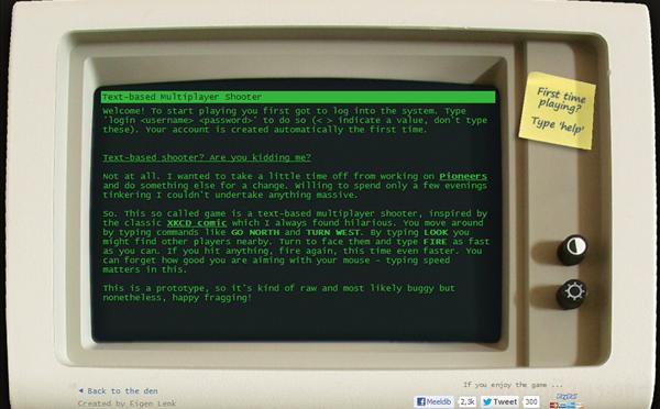 昔懐かしいテキストベースで現代のシューティングゲーム(FPS)を再現