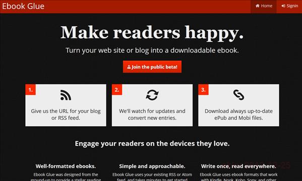 Ebook Glue – ブログのrssを渡すだけで電子書籍化してくれるサイト