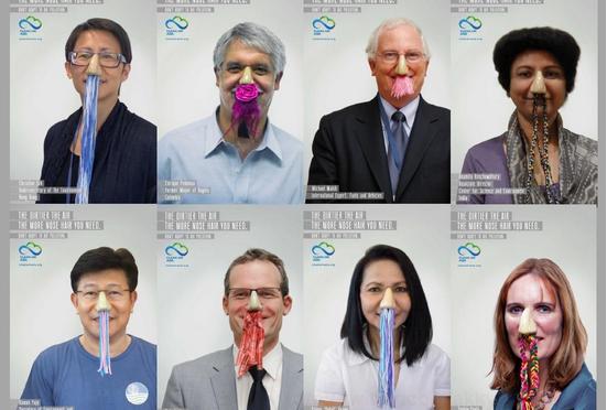 アジアの大気汚染を鼻毛で可視化した鼻毛マップ