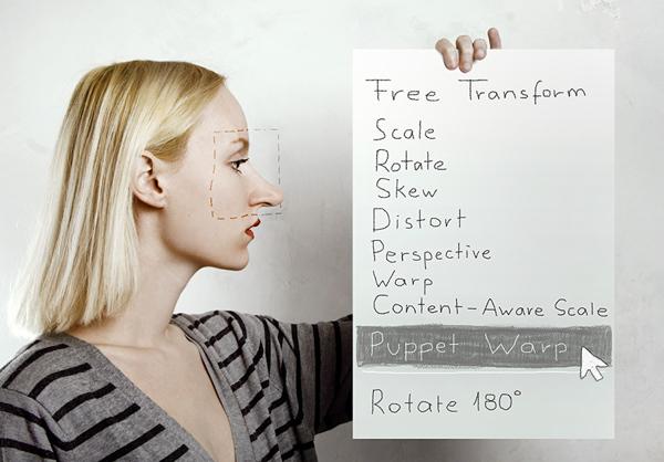photoshop-self-shot-pappet-warp