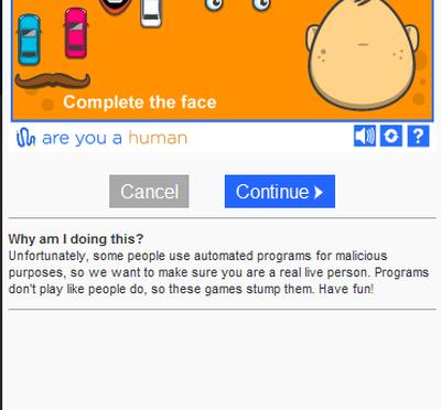 あなたは人間ですか?(Are you a human?) – ミニゲームによるCAPTCHA