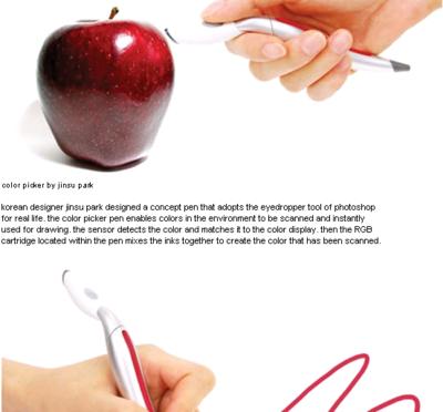 身の回りの色をそのまま使えるペン color picker pen