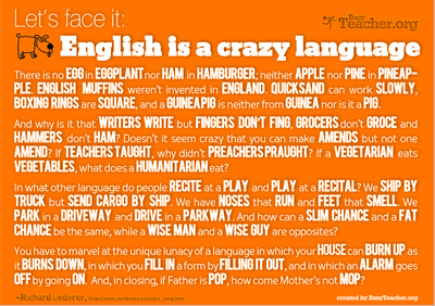 英語は狂った言語である