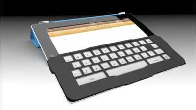 iPadのソフトウェアキーボードでタッチタイプを可能にする補助アイテムiKeyboard