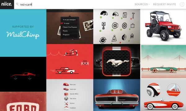 Niice – 「クールなデザイン」専用の新検索エンジン