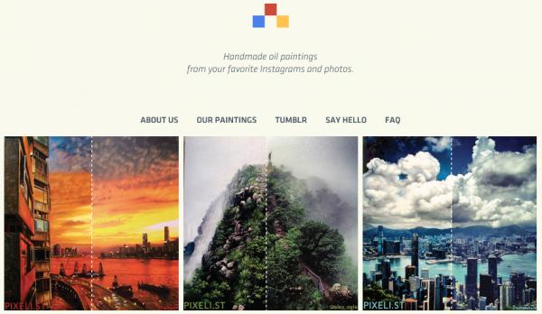 Instagramの写真を本物の油絵にしてくれる通販サービス – Pixeli.st