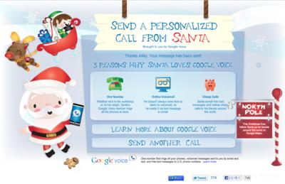 サンタがあなたの子供に電話をかけてくれるグーグルの新サービスsendacallfromsanta