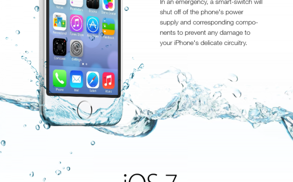 iOS 7を入れてもiPhoneは防水になりません