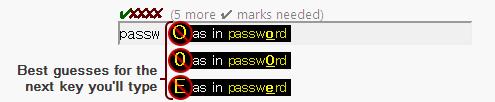 テレパスワード – あなたのパスワードの陳腐度を当てるサービス