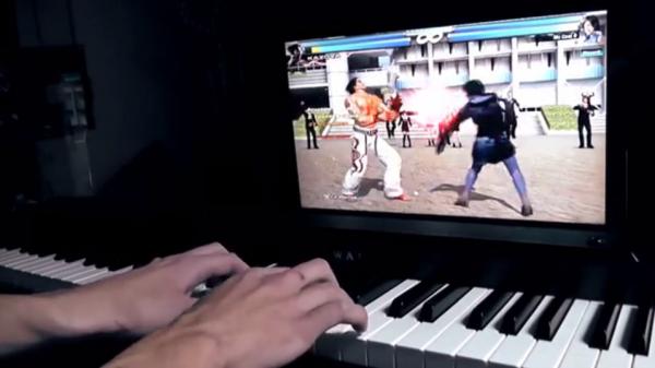 鉄拳ピアノ – ピアノを格闘ゲームのコントローラに。闘いながら音を鳴らす