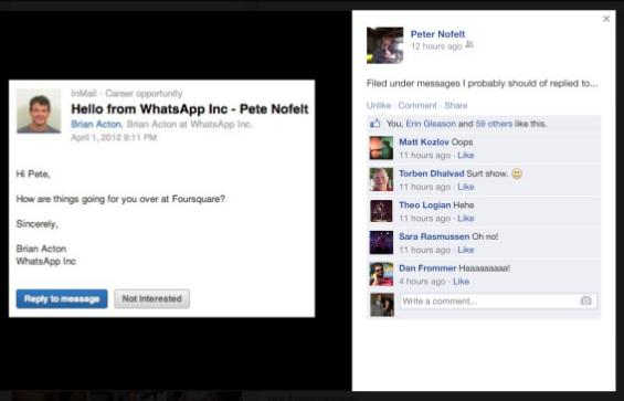 WhatsAppの共同創業者、FacebookやTwitterへの転職に失敗していた
