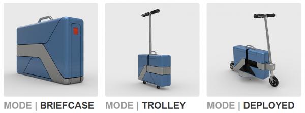 Commute-Case たたむとスーツケースになる電動バイク