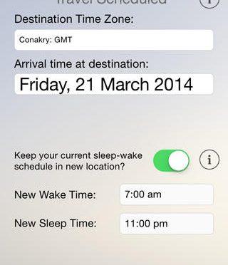 時差ぼけを最小限にするためのスマートフォンアプリ Entrain