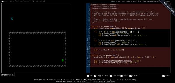 Untrusted – JavaScriptをいじって先へ進むRogueライクゲーム