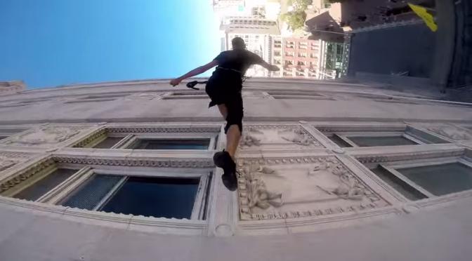 動画: 市役所の壁でダンス