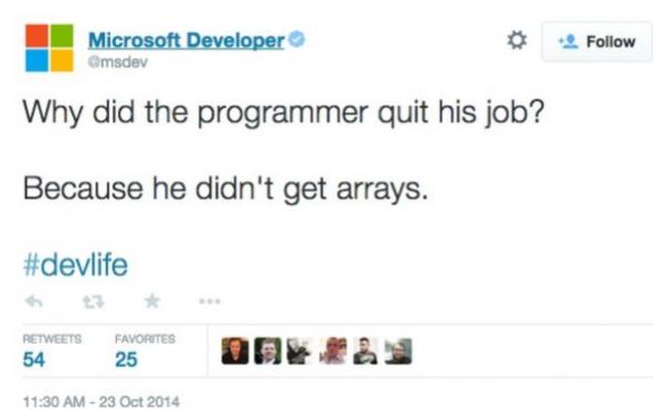間の悪いプログラマー・ジョークをつぶやいてマイクロソフト公式が炎上