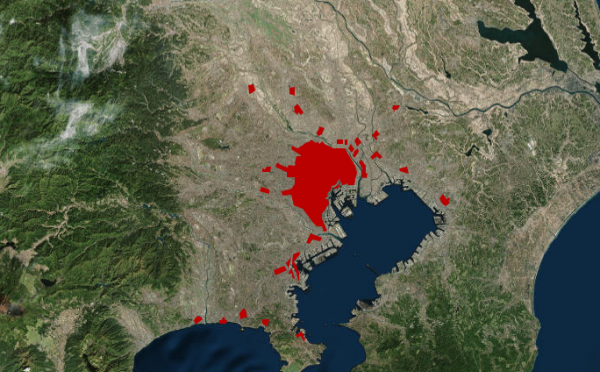 世界のメガシティの膨張を見せるサイト The Age of Megacities