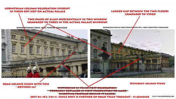 バッキンガム宮殿から全裸男性が脱出しようとした動画、の怪しさ