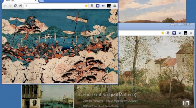 Chromeブラウザのタブにアートを表示するGoogle公式の拡張 Google Art Project