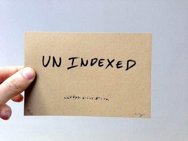 unindex