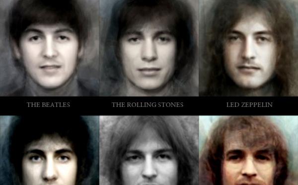 ロックな顔 – 伝説の30ロックバンドの「平均顔」