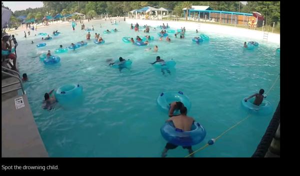 プール監視員になって溺れる子供を見つけるブラウザゲーム