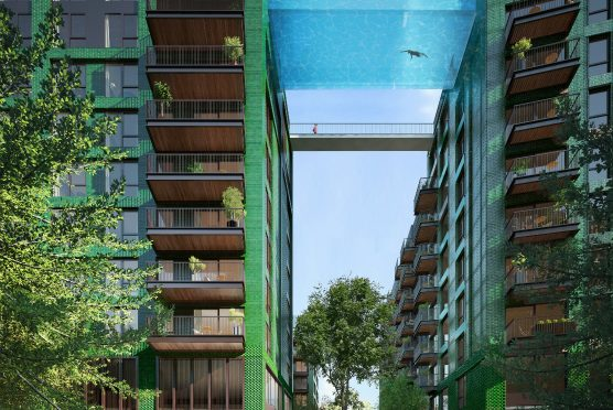 ロンドンで建設予定の地上10階にあるプールは、「渡り廊下」じゃなくて「渡りプール」
