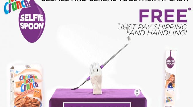 食べながら食べている自分を自撮りできるセルフィー・スプーンが登場。アメリカで無料配布