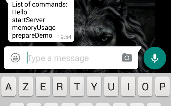 Whatsappメッセンジャーでサーバー管理