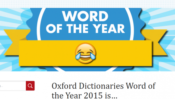オックスフォード辞書「今年の単語」は Emoji (絵文字)