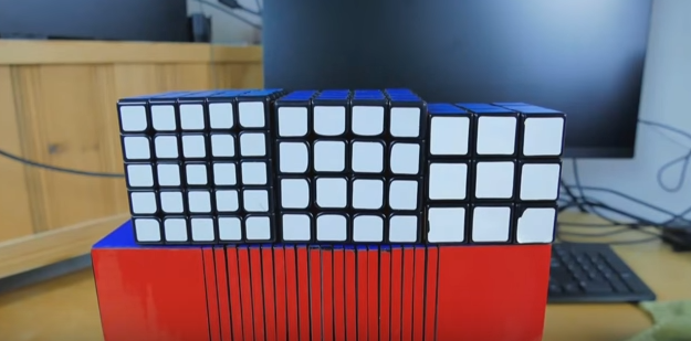 3Dプリンタで作られた22×22ルービックキューブ、3度目の正直で完成