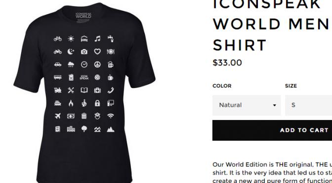 Iconspeak World – 世界旅行者のためのWebアイコンTシャツ