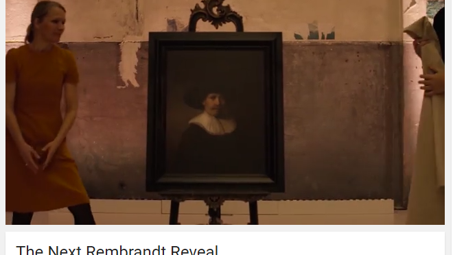 レンブラントの「新作」?が公開。データが描くプロジェクト The Next Rembrandt