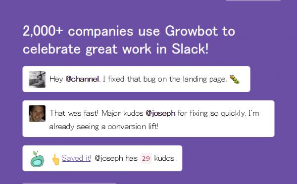 Growbot – チーム内の「がんばってるね」をカウントする Slack bot