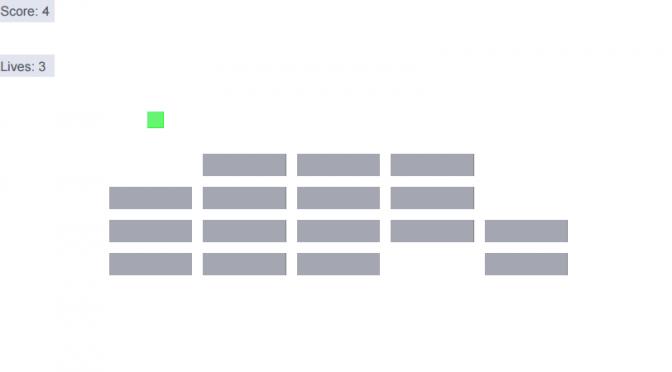 PDFで作られたブロック崩し