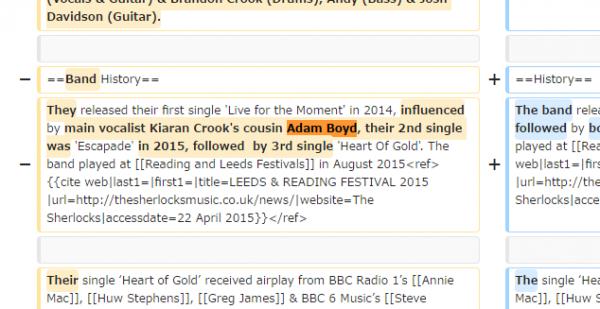 Wikipediaを書き換えてコンサートのVIP席に「いとこ」として入り込む