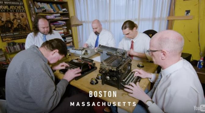 全楽器がタイプライターの「ボストン・タイプライター交響楽団」
