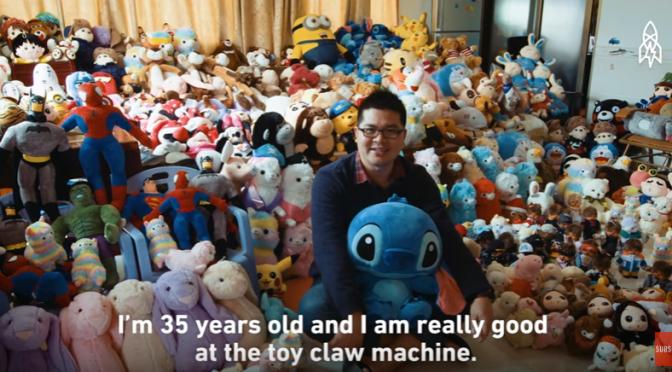 年に15000個のぬいぐるみを取るクレーンゲームの達人インタビュー
