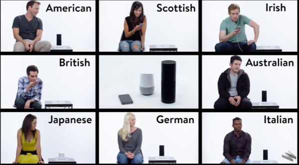 強い訛りの英語がSiri, アマゾン, グーグルの音声認識にどれぐらい伝わるか実験した動画