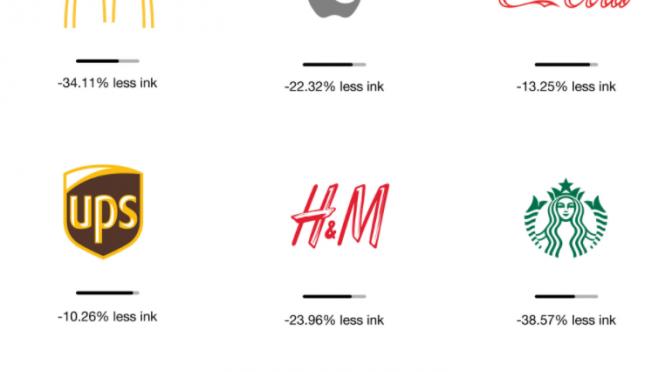 Ecobranding – 「ブランドロゴのインクを減らしてエコロジー」という提案