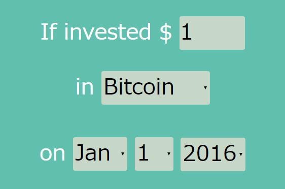 WhatIfBitcoin – 「あの時ビットコインを買ってたら」を計算してくれるサイト