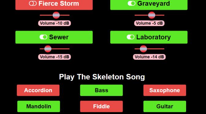 ブラウザで簡単に効果音付きハロウィーン音楽を演奏できる Halloween サウンドボード
