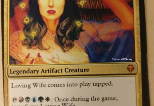 カードゲームMtGのカードで夫に妊娠を告げた人
