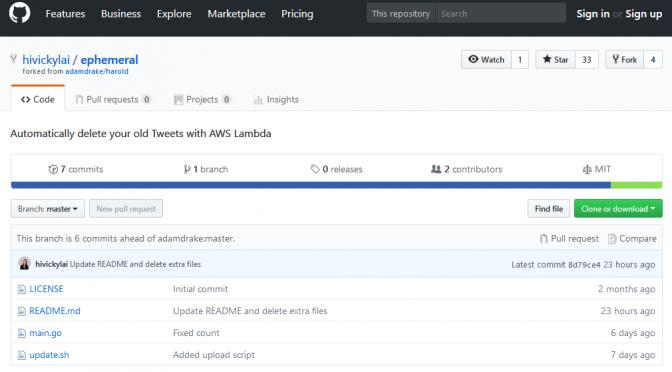 ephemeral – AWS Lambdaで古いツイートを自動削除