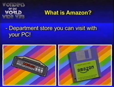 1980年代のアマゾンがどんなサービスだったかを紹介する動画