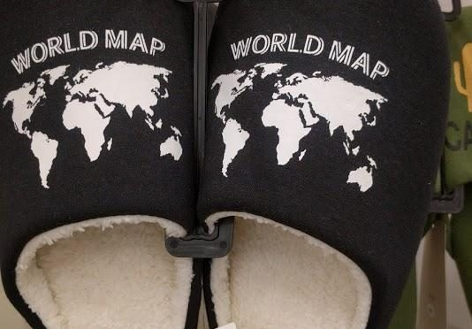 ニュージーランドがない世界地図