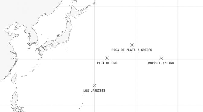 Phantom Islands – 実は存在しない、とわかって地図から消えた島をまとめた世界地図
