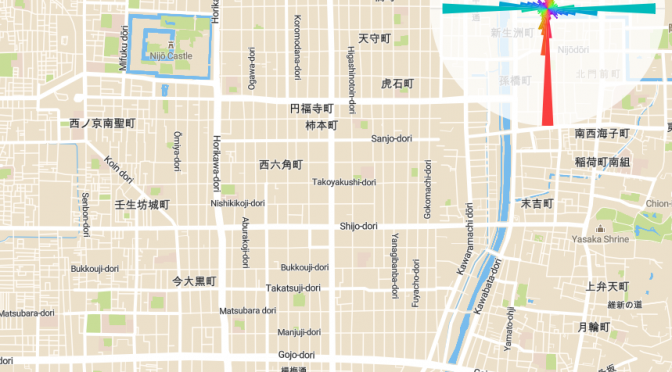 都市の道路が向いてる方角を調べられるインタラクティブ地図
