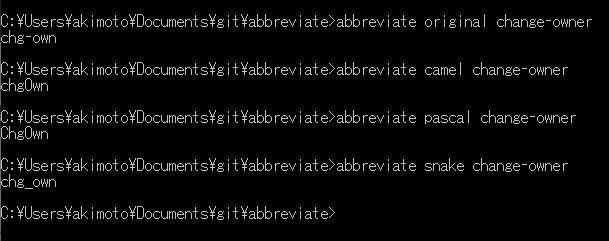 abbreviate – 英単語の省略形を機械的に決めてくれるツール