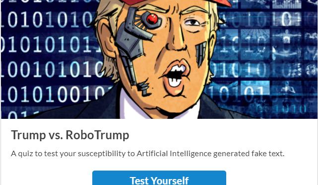 ロボトランプ – トランプ大統領本人が言ったかのようなスピーチ文を自動生成するbot
